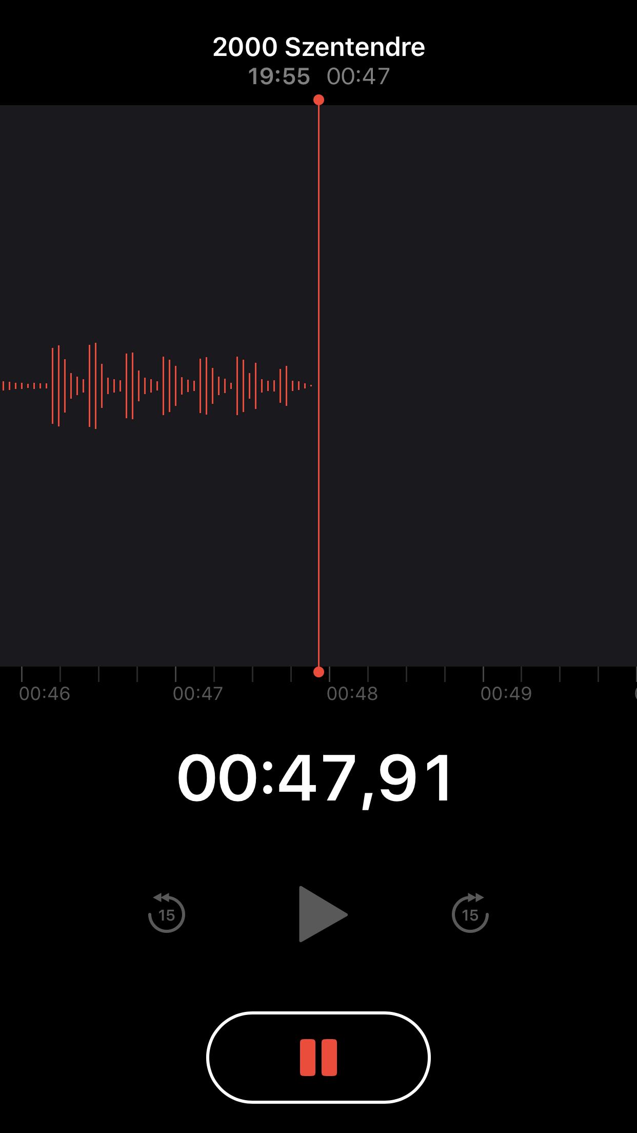 Hangjegyzet iOS12 - Re-store