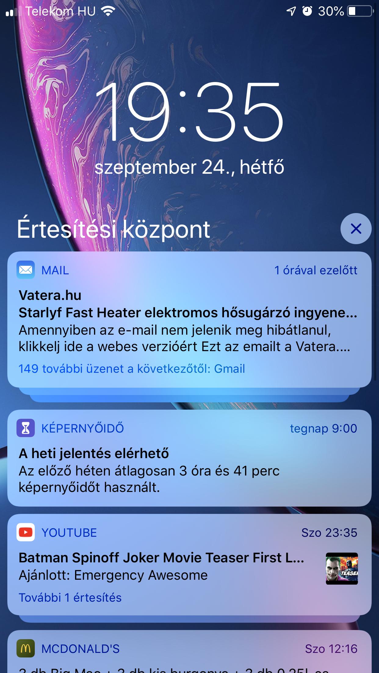 Csoportos értesítések iOS12 - Re-store