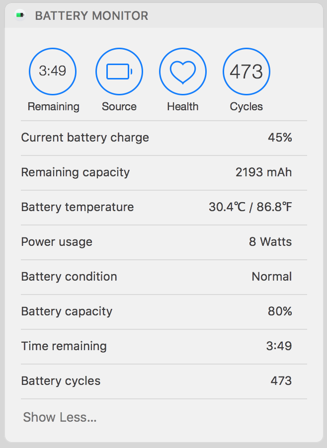 Battery monitor - Re-store