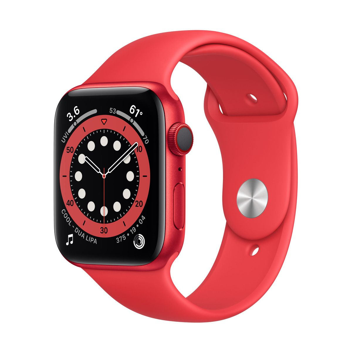 Apple Watch (Series 6) GPS+Cellular 44 mm-es (PRODUCT)RED alumíniumtok, (PRODUCT)RED sportszíj