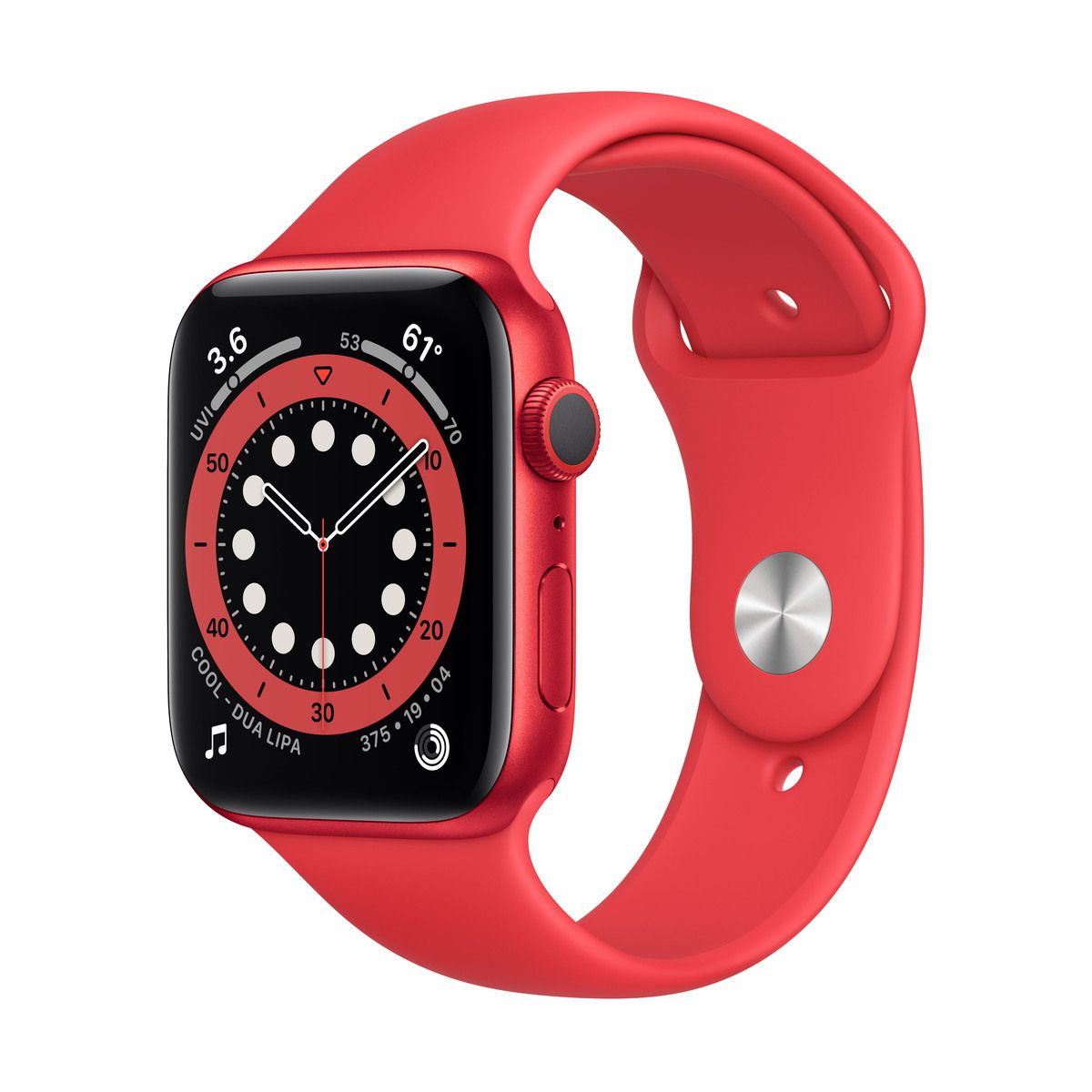 Apple Watch (Series 6) GPS 44 mm-es (PRODUCT)RED alumíniumtok, (PRODUCT)RED sportszíj